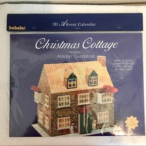 Christmas Cottage 3D Reusable Advent Calendar *NWT